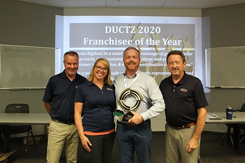 """DUCTZ of Mid-Michigan Receives 2020 National """"Franchisee of the Year"""" Award!"""