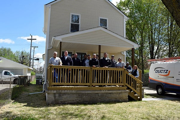DUCTZ Donates Services for Another Habitat For Humanity Home