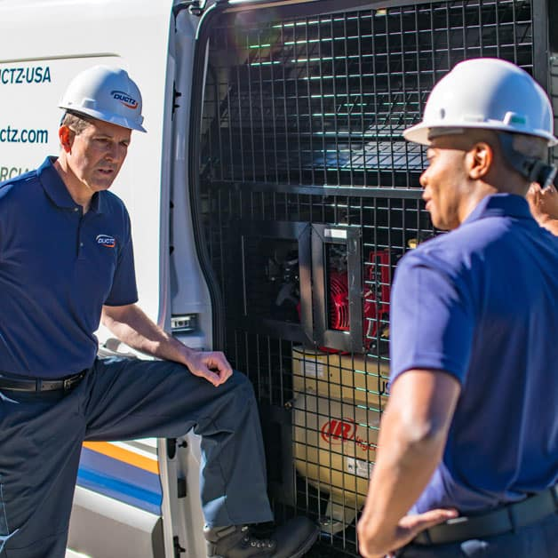 DUCTZ service technician are trained in upgrading residential air filters