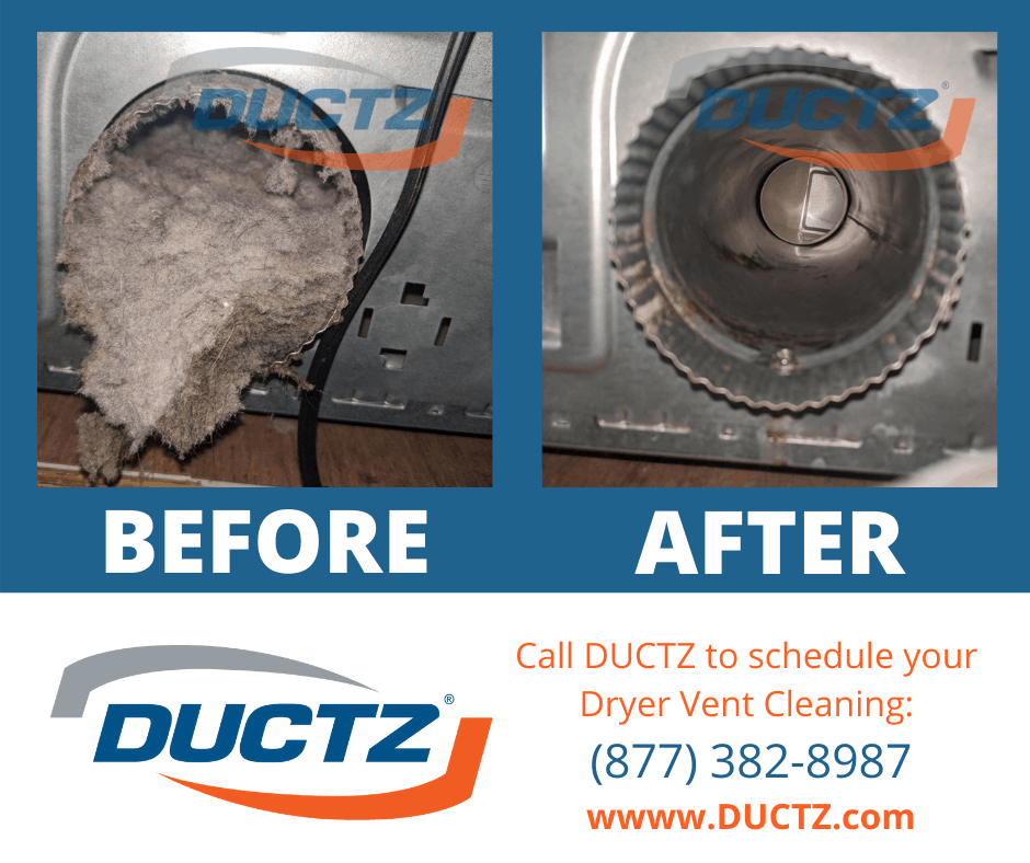 Fire Safety - Dryer Lint Clean Out Before and After