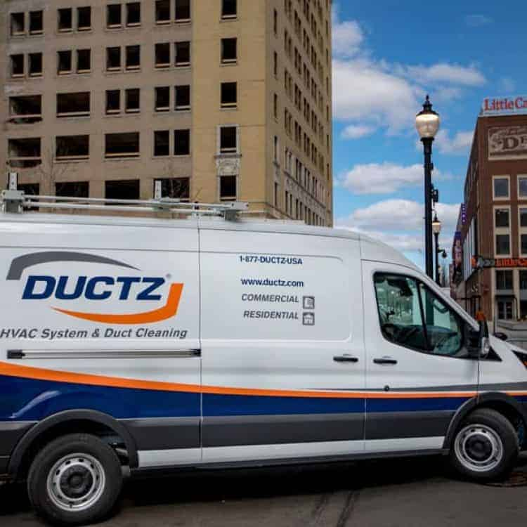 Commercial HVAC cleaning and restoration by DUCTZ