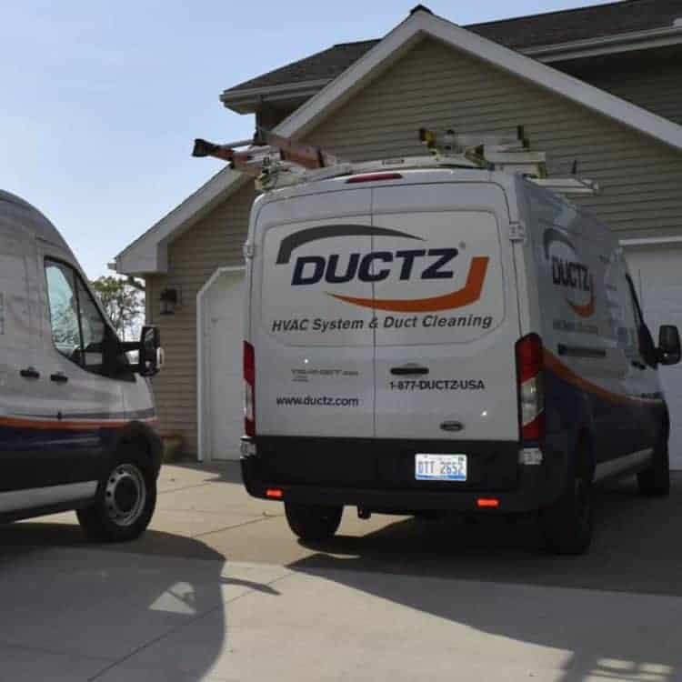 DUCTZ HVAC system and duct cleaning service truck