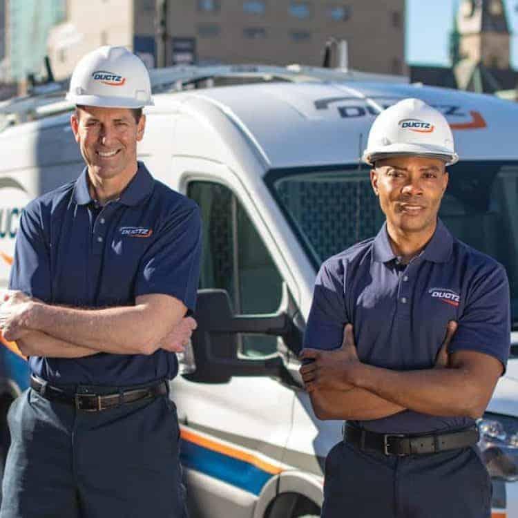 DUCTZ service technicians